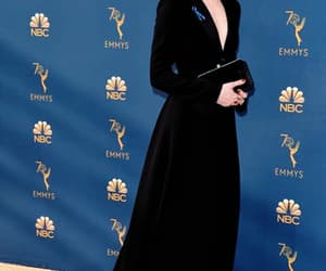 actress, black dress, and hair style image