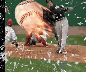 art, bat, and ball image