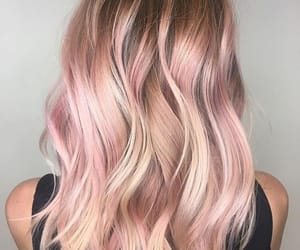 blond, dye, and pink image