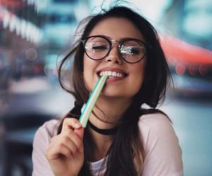 girl, happines, and love image