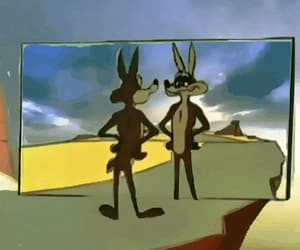 animation, classic, and coyote image