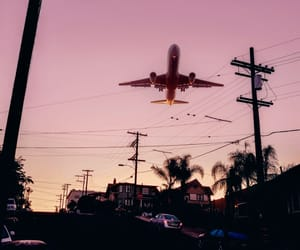 airplane, pink, and beautiful image