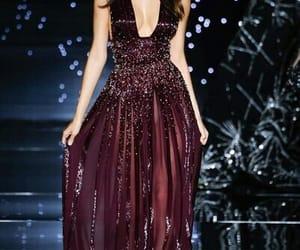 burgundy, long dress, and elegant image
