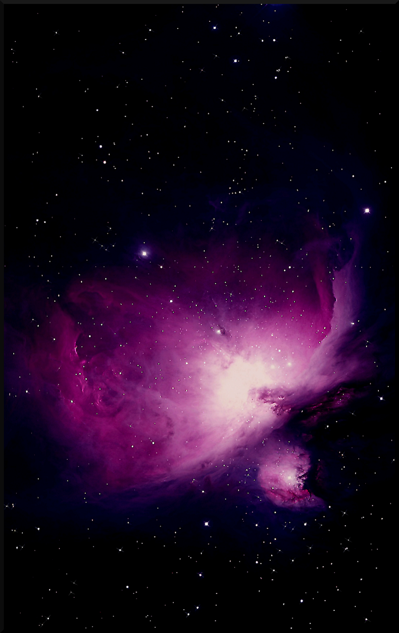 M42 Orion Nebula Purple Mobile Phone Wallpaper 1200x1920