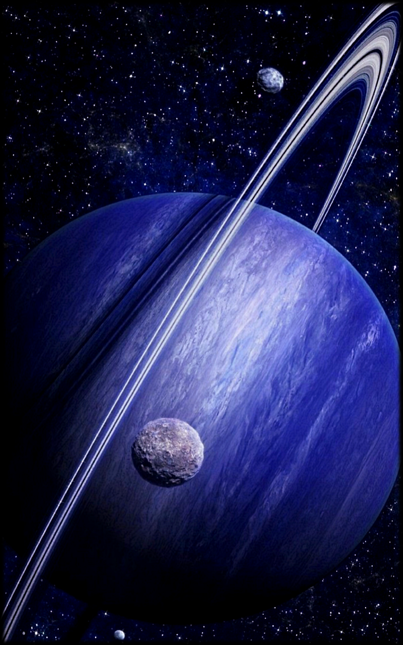 Badass Saturn In Blue Mobile Phone Wallpaper 1200x1920