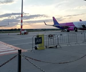 airport, wizzair, and dawn image
