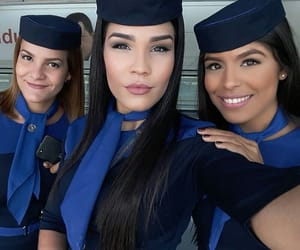 beauty, stewardess, and faces image