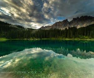 car, lake, and reflection image