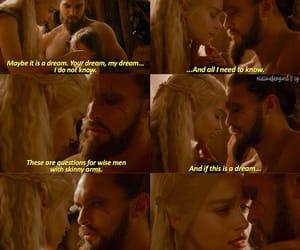 couple, daenerys targaryen, and khal drogo image