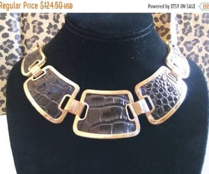 etsy, bib necklace, and statement jewelry image