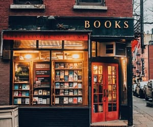 books, evening, and city image