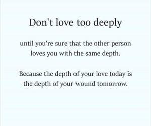 advice, depth, and heartbroken image