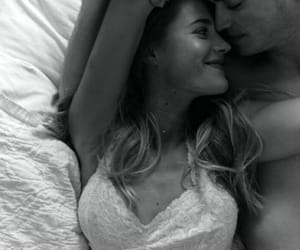 bed, cuddle, and smile image