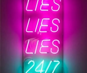 lies, neon, and sign image