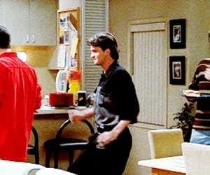 chandler bing, David Schwimmer, and gif image