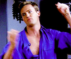 chandler bing, Matthew Perry, and gif image