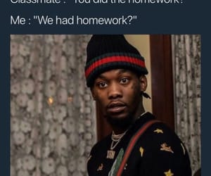 funny, homework, and memes image