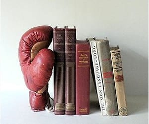 books, boxer, and cool image