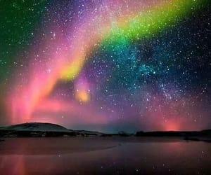 aurora borealis, landscape, and light image