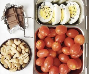 chocolate, eggs, and tomatoes image