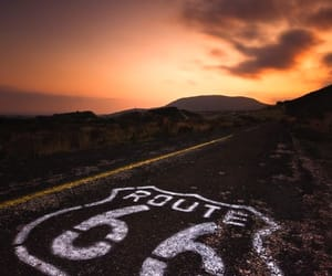 america, route 66, and beautiful image
