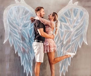 angel, couple, and love image