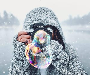 art, bubble, and cold image