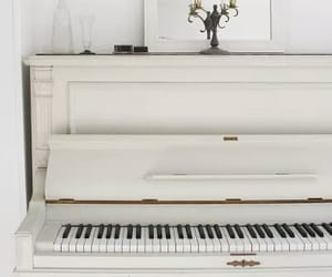piano, white, and music image