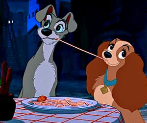 disney, walt disney, and the lady and the tramp image