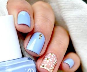 blue nails, fashion, and blue image