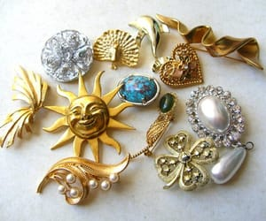 etsy, brooch lot, and jewelry destash image