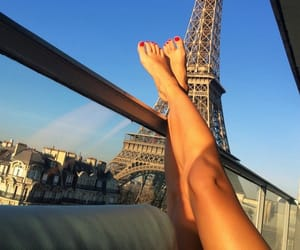 paris, legs, and summer image