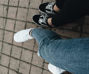 best friends, foot, and legs image