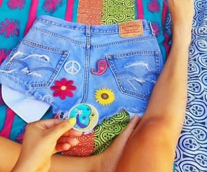 blue, hippie, and hippy image
