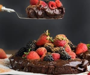 brownies, cake, and chocolate image