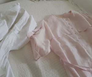bed, white, and babypink image