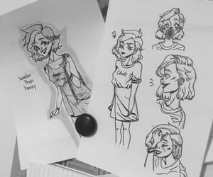 art, drawing, and praline image
