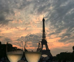 paris, sky, and love image