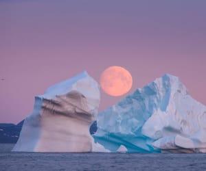 moon, sky, and iceberg image