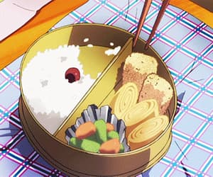 gif, japan, and bento lunch image