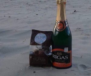 beach, champagne, and relax image