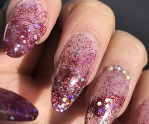 nail, nail art, and glitter nails image