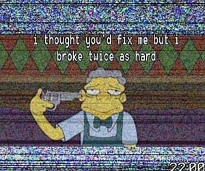broken, heartbroken, and quotes image