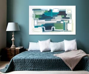 Abstract Painting, blue, and original art image