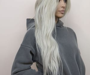 hair, kim kardashian, and yeezy image