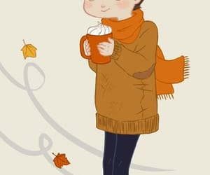 autumn, scarf, and cozy image