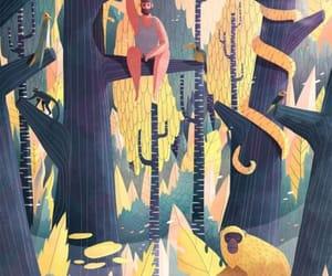 art, swinging, and cactus image