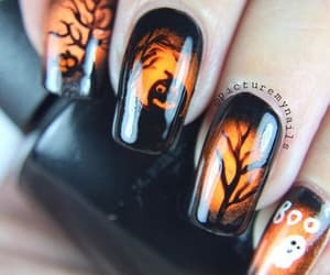 Halloween, autumn, and nails image