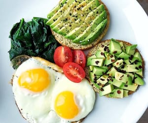 healthy, breakfast, and avocado image