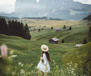 nature and girl image